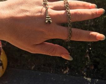 Paris please/ Choker/ Adjustable Necklace / Cute Charm Necklace / Charm