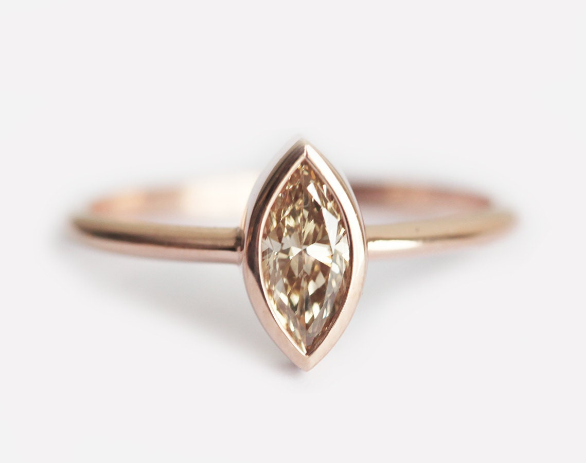 tw diamonds ring wedding in rose rings diamond with champagne gold