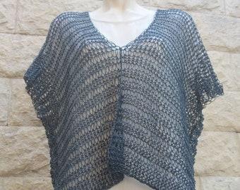 Tunic-Tunic linen-Blue navy tunic-blue women's jersey-knitted knits-handmade sweaters-blouse women linen-navy blue blouse