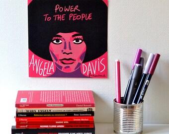 Angela Davis / map 18 x 18