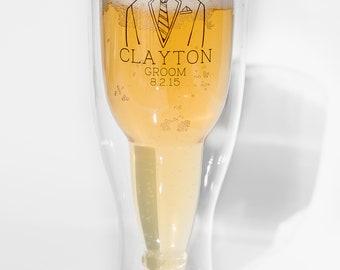 Groomsmen Wedding Favors, Can Cooler Gifts, Groomsman Gifts, Groomsmen Beer Glass, Wedding Party Gifts, Groomsman Pilsner Glass