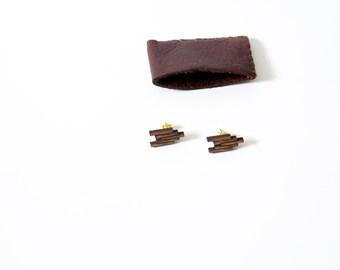 Flying V Wood Earrings
