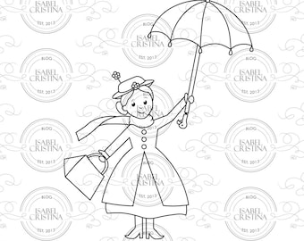 Nanny Poppins - IsabelCristinaStamps