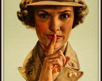 Art Print SILENCE World War II