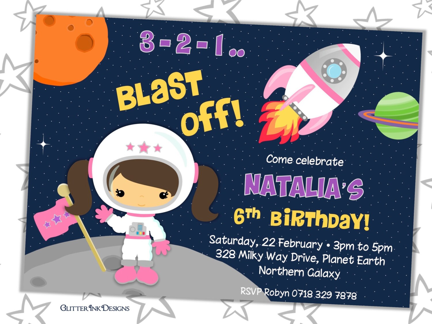 space themed invitations Intoanysearchco