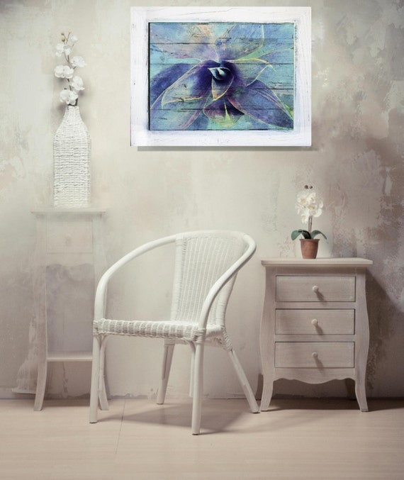 """Vintage Contemporary Framed Signed Fine Art Print """"Awesome Succulent """" 18"""" X 24"""" by Irena Orlov"""