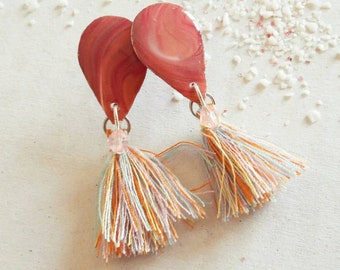 """Pom Pom Pidou"" earrings"