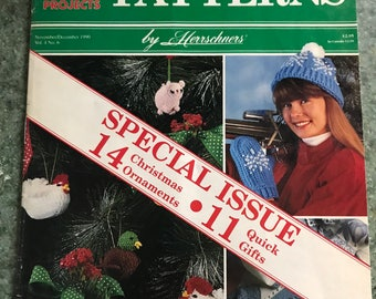 Crochet Patterns by Herrschners  November and December 1990 Vol1 no 6