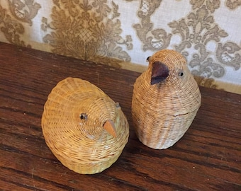 Two Little Baskets with Chicken Heads that Come Off
