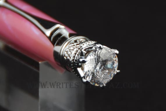 Mother's Day  Pink Sky Twist Pen, Adorned with Swarovski Crystal