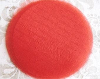 "30 pcs 3"" Red organza circles to make flowers"