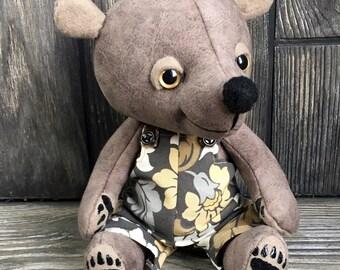 "Prototype 10"" Georgie teddy bear plush collectible artist bear by Karen Knapp of Tindle Bears"