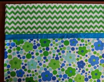 Blue Floral Pillowcase