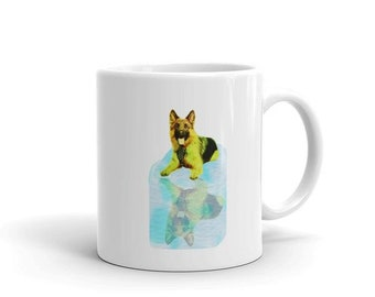 German Shepherd Reflection Mug