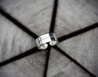 Silver Ogham Toe Ring for ROWAN Tree Signs Jan 21st - Feb 17th