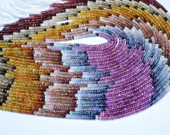 AAA 1 Strands 13 Inch 2-3mm Natural Tundra Sapphire Microfaceted Rondelle Beads Strand-Lustrous Tundra Sapphire Beads(0523-0525-0535)