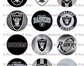 2 Inch Raiders Toppers Cupcake Toppers, Digital Prints, Instant download, Raiders digital file, Party Supplies