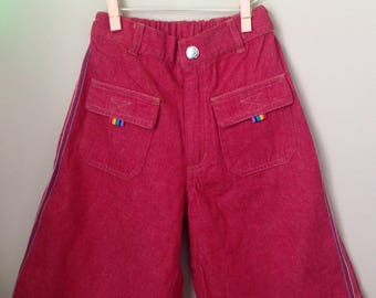 Happiest Pants Ever - Vtg Child's Smiley Face Pants - Happy Face Pants - Baby 90s Skateboarder Hackey Sack Pants