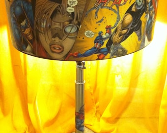 Captain America ~ One of a Kind Custom Metal Lamp