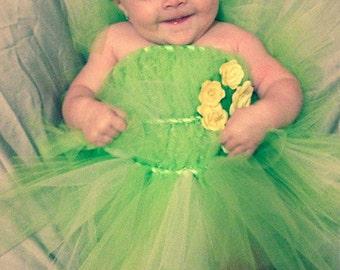 Tinkerbell Tutu, Tinkerbell Costume, Halloween Costume, Fairy Costume, Baby Girl Halloweeen, toddler halloween