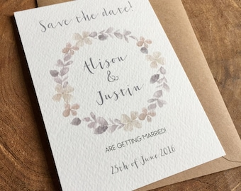 Floral Save the date card - sample
