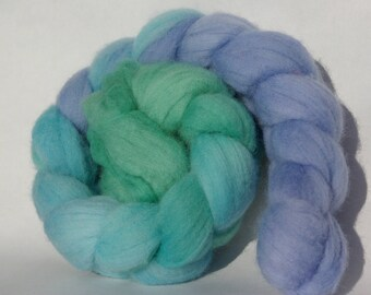 Polwarth spinning or felting - 97g - blue, green