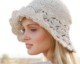 Crochet Women's Sun Hat/Dune hat/Hat with Brim/Summer Beach Hat/Cotton Beach Hat/Shell Stitch Hat/Women's Beach Hat/Summer Hat/Gift for her
