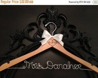 SPRING SALE Rustic Bride Hanger / Bridal Hanger / Wedding Hanger / Engraved Hanger / Vintage Rustic Wedding / Personalized Hanger / Rustic H