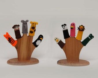 Deluxe Zoo Animals Finger Puppet Set (Includes Tiger, Monkey, Elephant, Giraffe, Penguin, Eagle, Panda, Flamingo, Lion, and Alligator.)