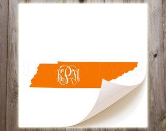 Tennessee Monogrammed Vinyl Decal