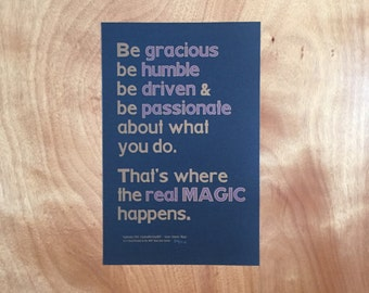 "CreativeMornings/Buffalo September 2016 Quote on ""Magic"""