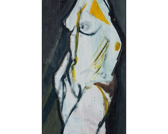 """Painting nude girl """"Nature D.M"""", contemporary art, FREE SHIPPING"""