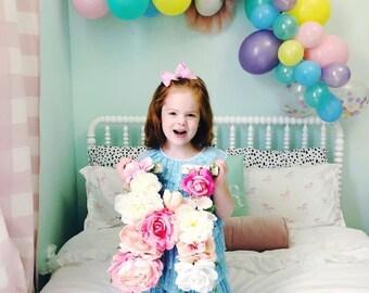 Flower letter / floral initial / wedding letter / wall hanging  / wooden letter / flower initial  / nursery letter / engagement gift