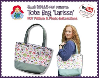 Tote Bag Pattern 'Larissa' DIY Tutorial PDF | by Sami Dolls