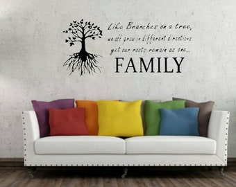 Family Tree Decal Family Tree Wall Decal Family Wall Decal Tree of Life  sc 1 st  Etsy & Family wall decal | Etsy
