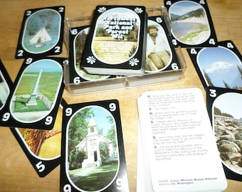 vintage double deck of Playing Cards NORTHWEST NATIONAL PARK