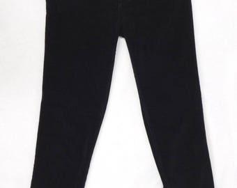Versace Jeans Couture Vintage Black Corduroy Pants- Size 29/40