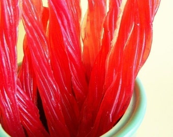 Red Licorice Soap Set - Candy Soap, Red Vines Soap, Twizzler Soap, Dessert Soap, Cherry Soap, Soap Favors, Realistic Food Soap, Kids Soap