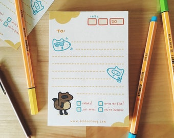 Luchie Stationery Notepad (For Letters, Notes, Memos, Scribbles, To-Do Lists, etc!)
