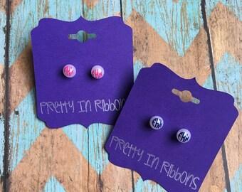 Monogrammed pearl earrings