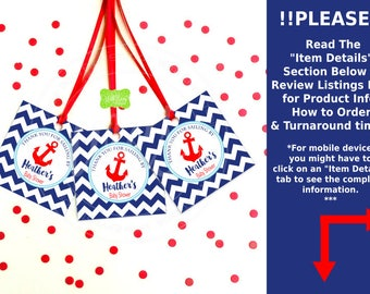 Nautical Favor Tags - Nautical Baby Shower Tags - Sailing Favor Tags - Nautical Thank You Tags - Digtal & Printed