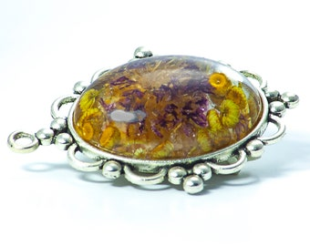Real wild flowers pendant