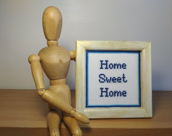 Home Sweet Home Cross stitch art Kitchen decor Home décor Embroidered quote Motivational text Favorite saying Beautiful phrase Custom quote