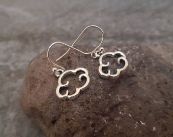 Silver Cloud Earrings, Cloud Jewelry, Nature Inspired Jewelry, Gift for her, Stocking Stuffers, jingsbeadingworld inspired by nature