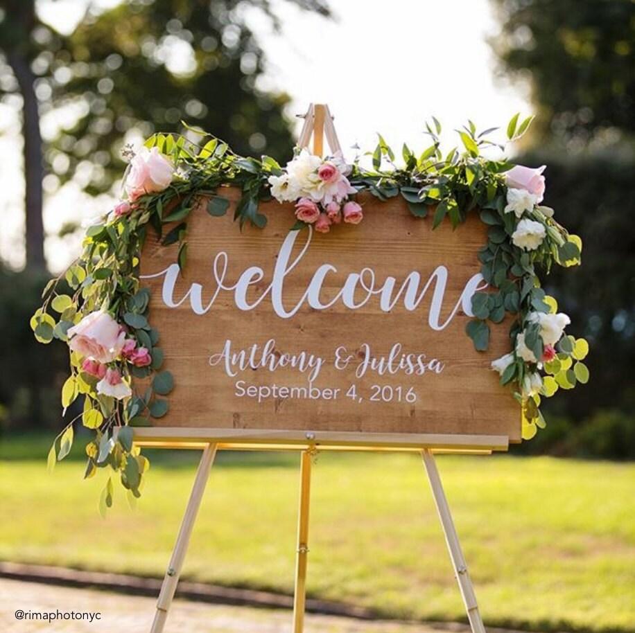 Etsy Wedding Signs: Wedding Welcome Sign Wedding Decoration Wedding Wood Sign