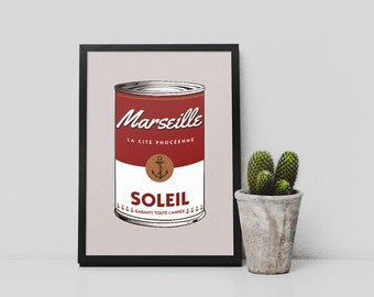 "Affiche ""MARSEILLE IN A CAN"" Poster"