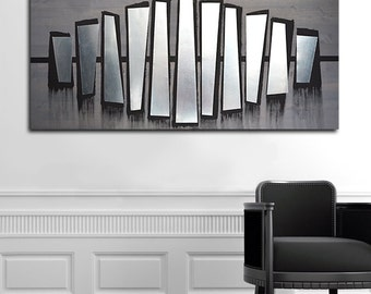 Abstract Metal Art Wall Decor, Contemporary Metal Wall Art, Metal Wood Wall Art, Modern Abstract Wall Art, Home Metal Wall Art
