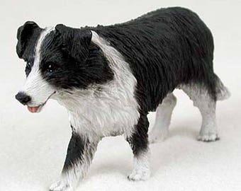 Custom Painted Border Collie Dog Figurine