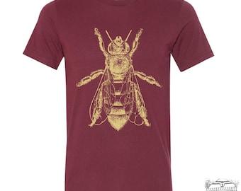 Mens HONEY Bee T Shirt  s m l xl xxl (+ Color Options) hand printed custom