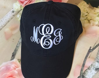 Monogrammed Baseball Caps.  Embroidered Baseball Caps.  Ladies baseball hat.  Ball Cap.  ID-LP101